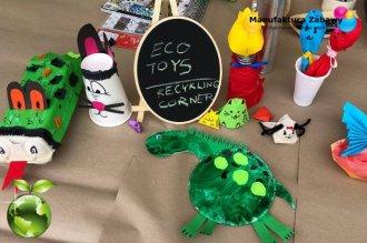 EKO kącik recyklingowy - recyklingowe zabawki - atrakcje ekologiczne