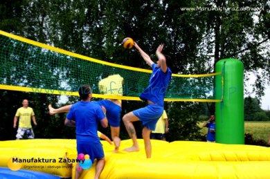 wyskokowa siatkówka z trampolinam - siatkonoga