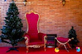 Tron Świętego Mikołaja / dekoracje świąteczne